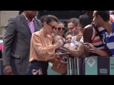 Alyssa Milano from the Netflix TV series Insatiable signs autographs and poses for photos with fans