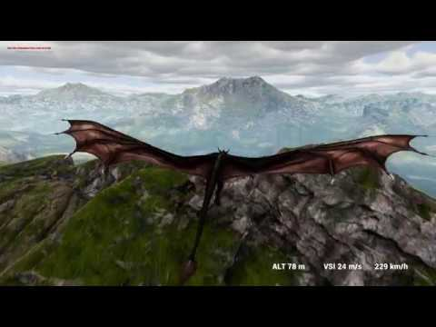 Dragon Game Project in UE4. IKinema and flying at Kite map