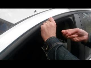 Установка шторок на КЛИПСАХ (креплениях). Просто не на все авто подходит крепление на магнитах.