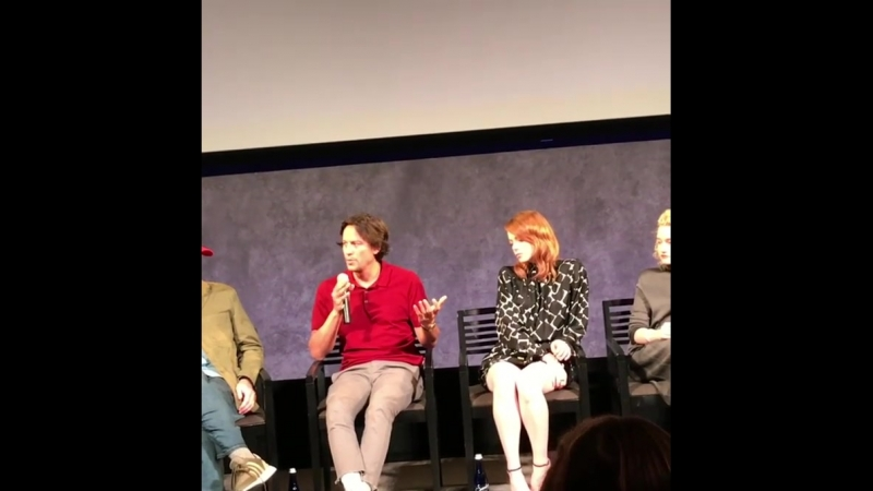 Мероприятия Пресс конференция вопрос ответ после показа сериала Маньяк в Нью Йорке 19 сентября 2018