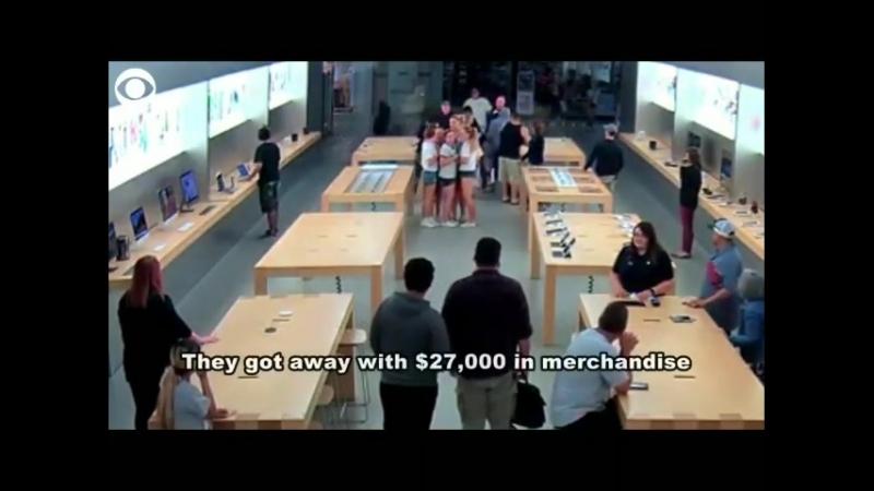 В Калифорнии четверо грабителей похитили техники Apple на 27 тысяч долларов
