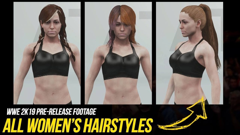 WWE 2K19 Creation Suite All Womens Hairstyles! WWE2K19
