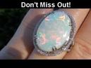 AMAZING Coober Pedy Mined 13.05 Carat Australian Opal Diamond Ring