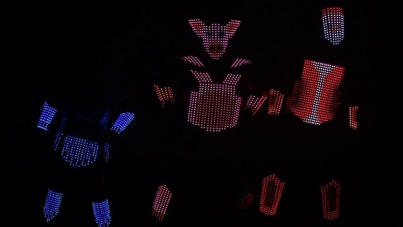 Световое новогоднее шоу Pixel Арт студии Иллюзион