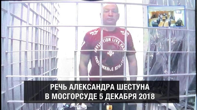 Речь Шестуна в Мосгорсуде 05.12.2018