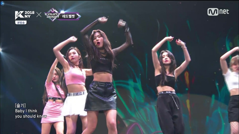180705 Mnet KCON 2018 NY x M COUNTDOWN Red Velvet - Bad Boy Red Flavor