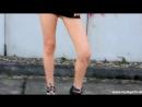 Blonde Model Samira in Sexy Fashion Vol 19 in a hot black short Minidress