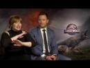 Sarina Bellissimo interviews Bryce Dallas Howard Chris Pratt Jurassic World Fallen Kingdom