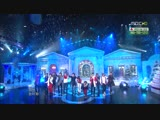 111224 MBC Music Core Infinite &amp Teen Top - Santa Claus Is Coming To Town + Jingle Bell + White Christmas
