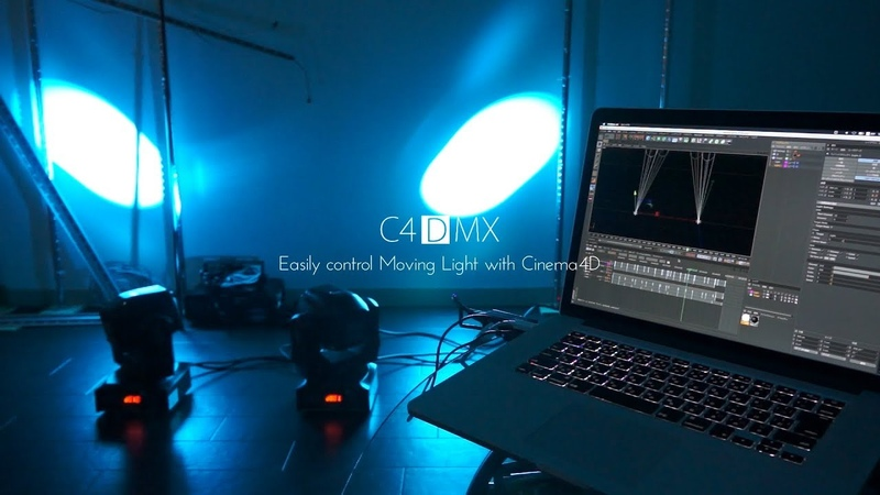 C4DMX Easily control Moving Light with Cinema4D