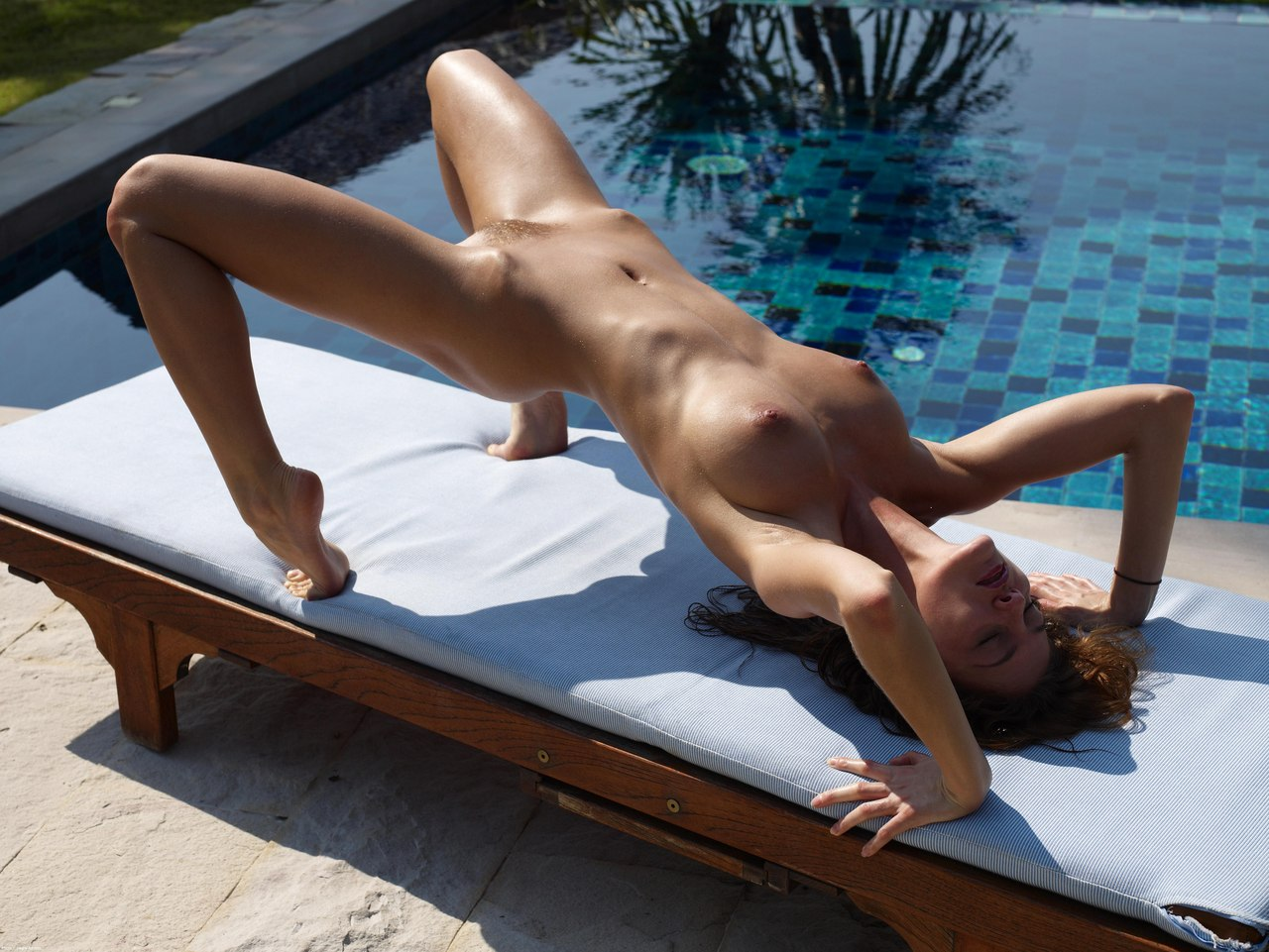 Beautiful russian girl white socks tease