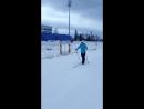 Таня на лыжах