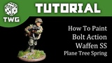 Bolt Action Tutorial How To Paint Waffen SS - Plane Tree Spring Camo