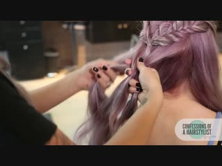 Fishtail into dutch mermaid braid