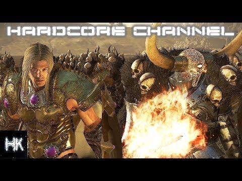 Total War Warhammer 2 Империи Смертных прохождение Hardcore Хаос =20= Стонущий клинок