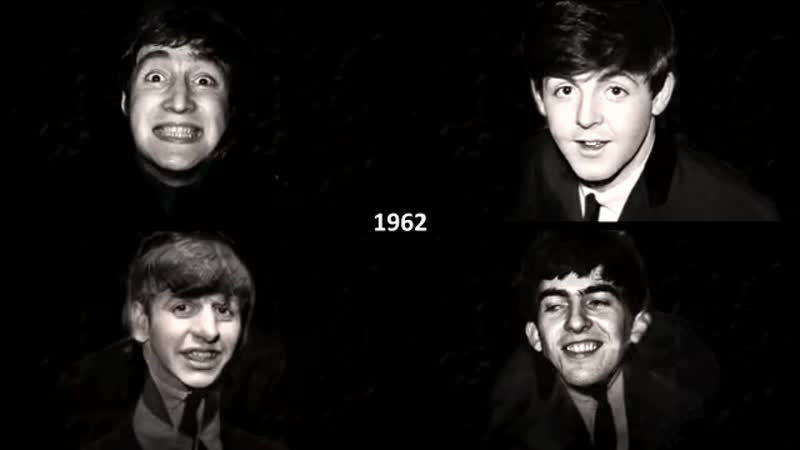 The Beatles Aging Together 1960-2017 | Faces Songs one per year