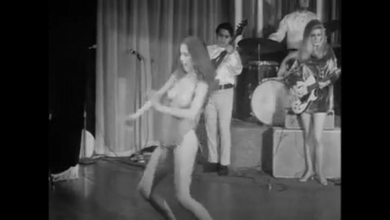 Vintage nightclub striptease topless gogo girl dance