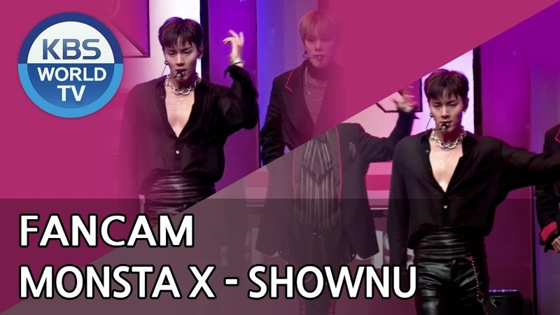 [YT][26.10.18] MONSTA X - Shoot Out (focus Shownu) @ Music Bank KBS