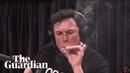Elon Musk smokes marijuana on live web show