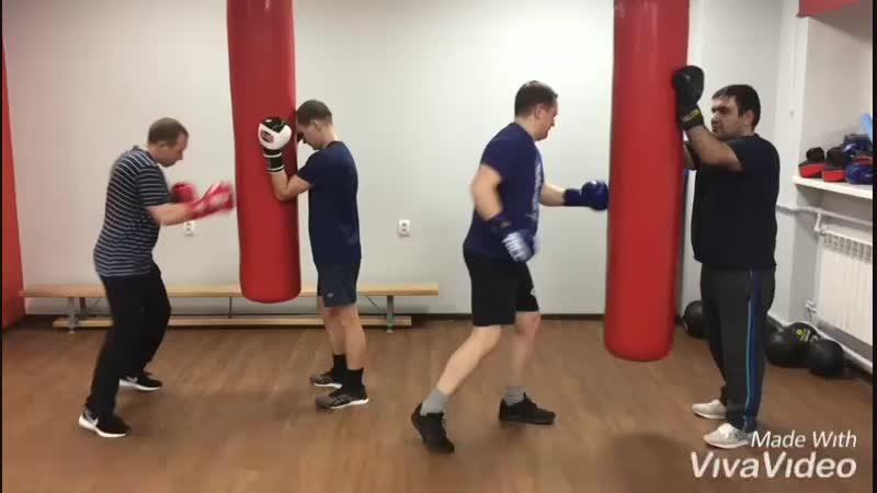 Мужской бокс в фитнес-центре Зожников