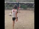 Первый гол моей сестры .ЛЮБЛЮ ЕЁ