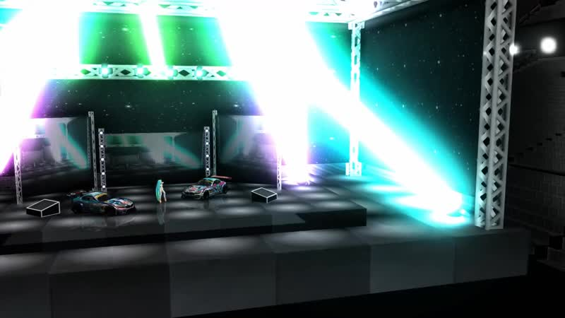 MMD レーシングミク2015 サイバーサンダーサイダー 720P HD