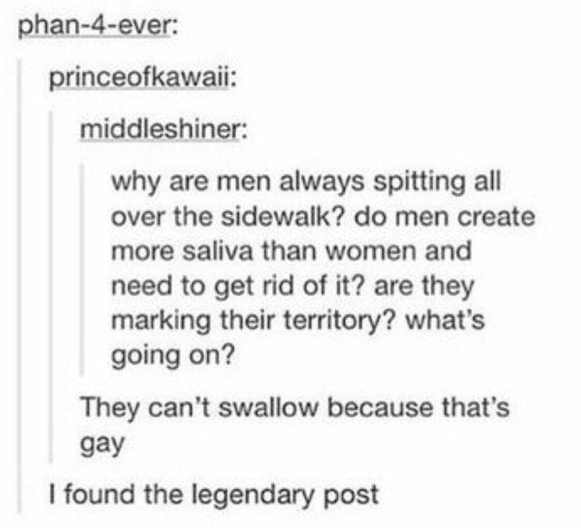 Настоящие мужики сплевывают