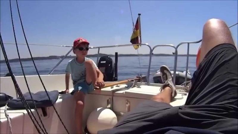 Segeln Kroatien 2014 Pfingsten mit einem Kleinkreuzer NORMANDY