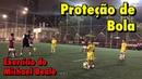 Exercício de proteção de bola Treino de Futebol