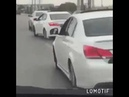 White car starts dancing and the rest follow meme | mask off