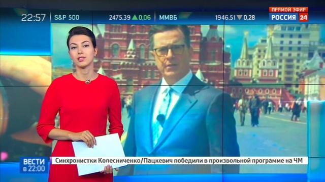 Новости на Россия 24 • Американский комик Стивен Колбер делает рейтинги своего шоу на русской теме