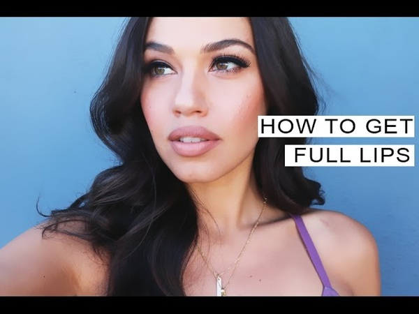 2 Min Makeup Tip ❤ HOW TO GET NATURAL FULL LIPS | Eman