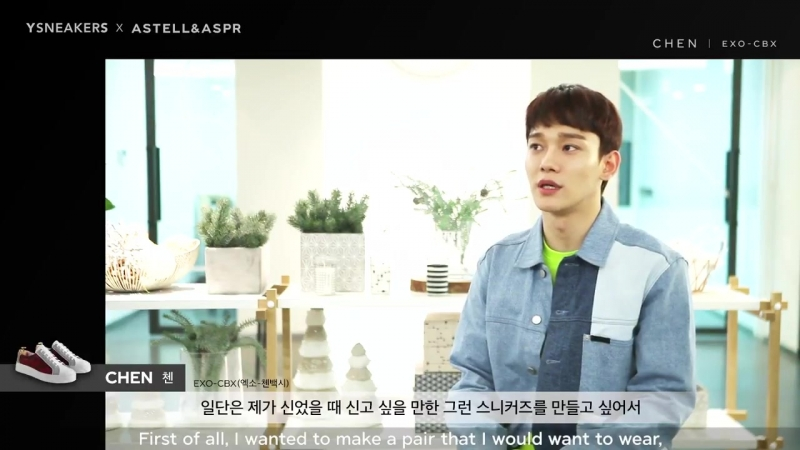 [INTERVIEW] 180719 YSNEAKERS X ASTELLASPR COLLABORATION @ EXOs Chen
