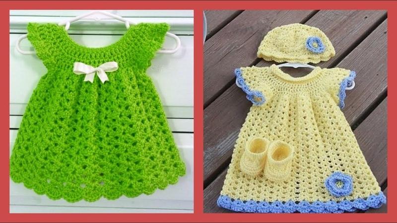 El örgüsü kız çocukları için örgü elbise modelleri