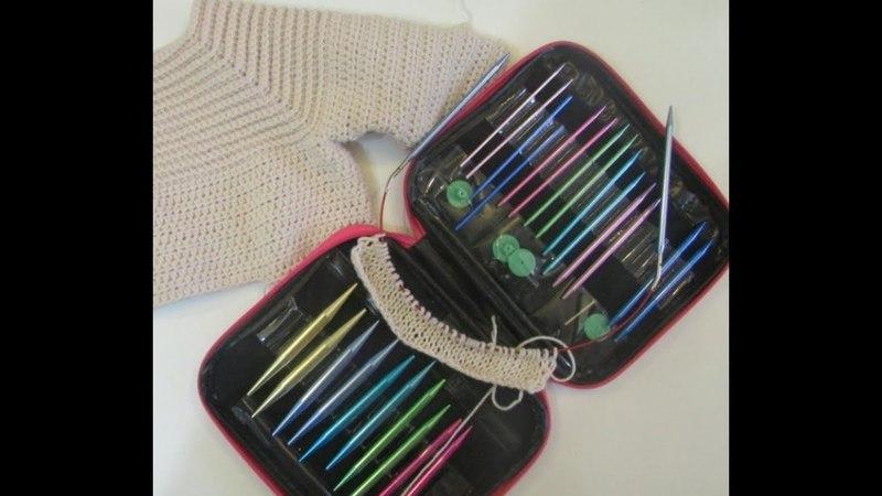 набор спиц с Али и вязание образца для плюшевой кофты спицами