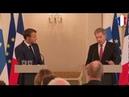 Conférence de presse d'Emmanuel Macron avec le président Finlandais 30 08 2018 13 37 min Russie 30 min France