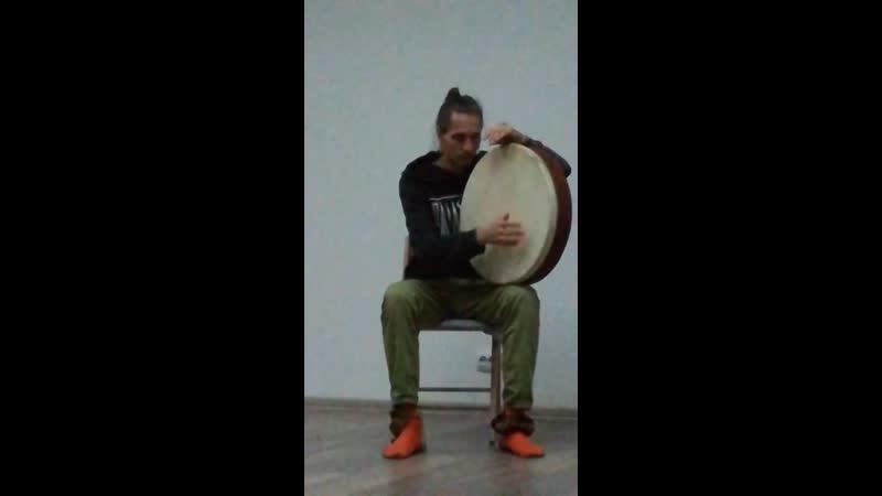 Николай Колпаков, рамочный барабан, пространство суфийских кружений и музыки в Санкт-Петербурге
