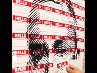 Картина Eminem из стикеров Hello My Name