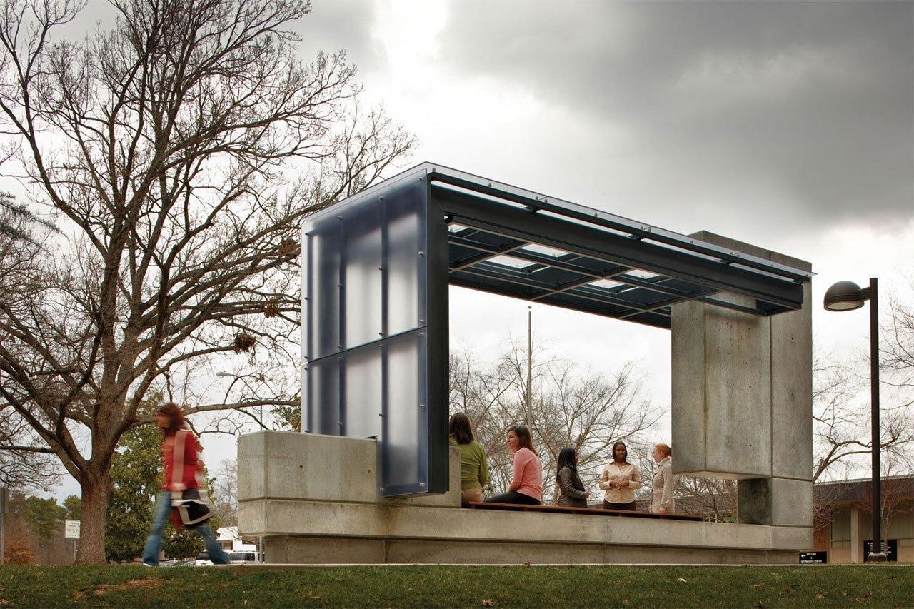 Автобусная остановка Pearce Brinkley Cease   Lee Роли, Северная Каролина, США