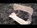 Как своими руками сделать прикольную лавочку Практически из дров