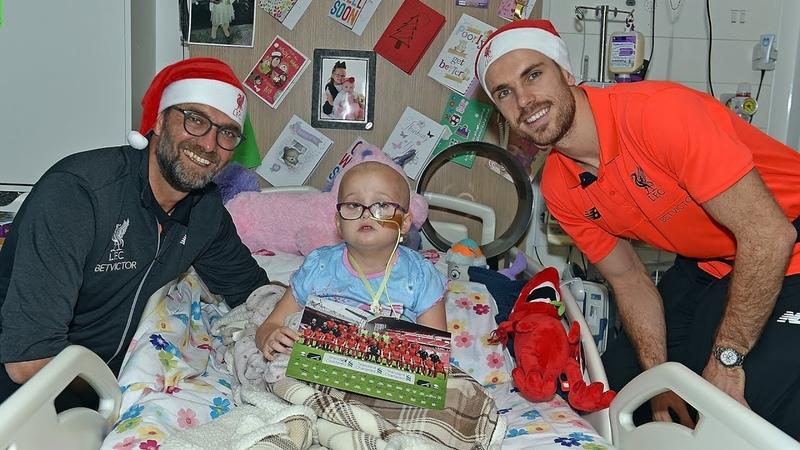 Liverpool FC spread Christmas cheer at Alder Hey Children's Hospital