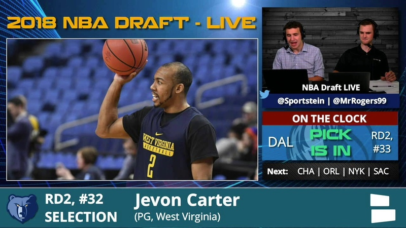Memphis Grizzlies Select Jevon Carter From WVU With Pick 32 In 2nd Round Of 2018 NBA Draft