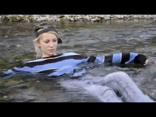 Wetlook - Kelevra fully clothed in river (with azure Converse)!