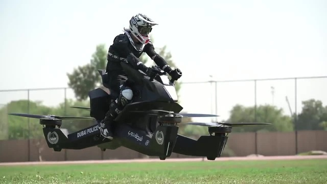 Hoverbike S3 2019 Dubai Police flying lesson coub