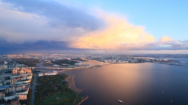 Над Санкт-Петербургом Above the Saint-Petersburg (Lakhta 360)