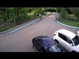Сломал ворота владельц Geely Emgrand в340ру174