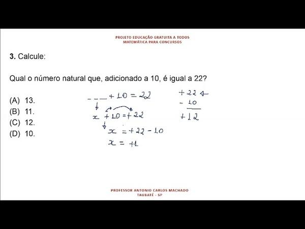 Cálculo Valor Desconhecido Questão 3 Matemática