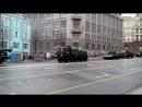 Репетиция Парада Победы, улица Тверская, Москва, 26 апреля 2018 г.