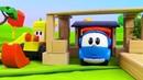 Léo e Max constroem uma casa. Léo o caminhão de brinquedo.
