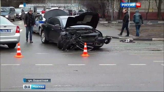 Вести Москва На севере Москвы в серьезном ДТП пострадали два челове